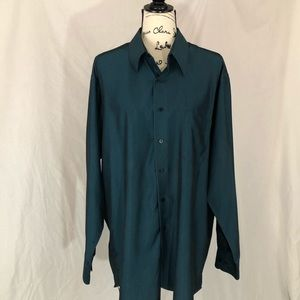 Green Geoffrey Beene l/s shirt black 16.5